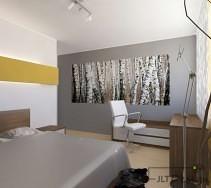 Klasyczna sypialnia z wygospodarowanym miejscem do pracy