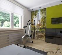 Zielona energetyzujaca sypialnia