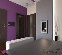 Sypialnia z biokominkiem