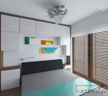 Wiszące szafki jako alternatywa szafy w zabudowie sypialni