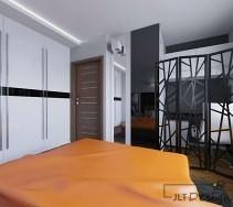 Wydzielony kącik biurowy i intymnej sypialni