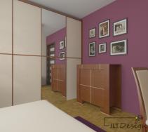 Duża szafa w zabudowie sypialni