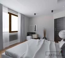 Nowoczesna sypialnia z ciekawą toaletką