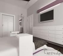 Naturalna biel w stylowej sypialni