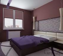 Ciemne kolory w sypialni z jasnymi dodatkami