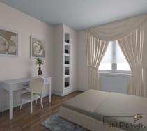 Wnętrze stylowej, kobiecej sypialni