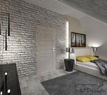 Nowoczesna sypialnia z dużym białym łóżkiem