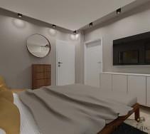 Przytulna sypialnia w ciepłych kolorach