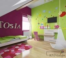 Kolorowy pokój dziecięcy dla Tosi