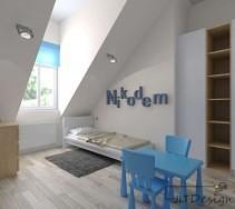 Jasny pokój dziecięcy dla Nikodema.