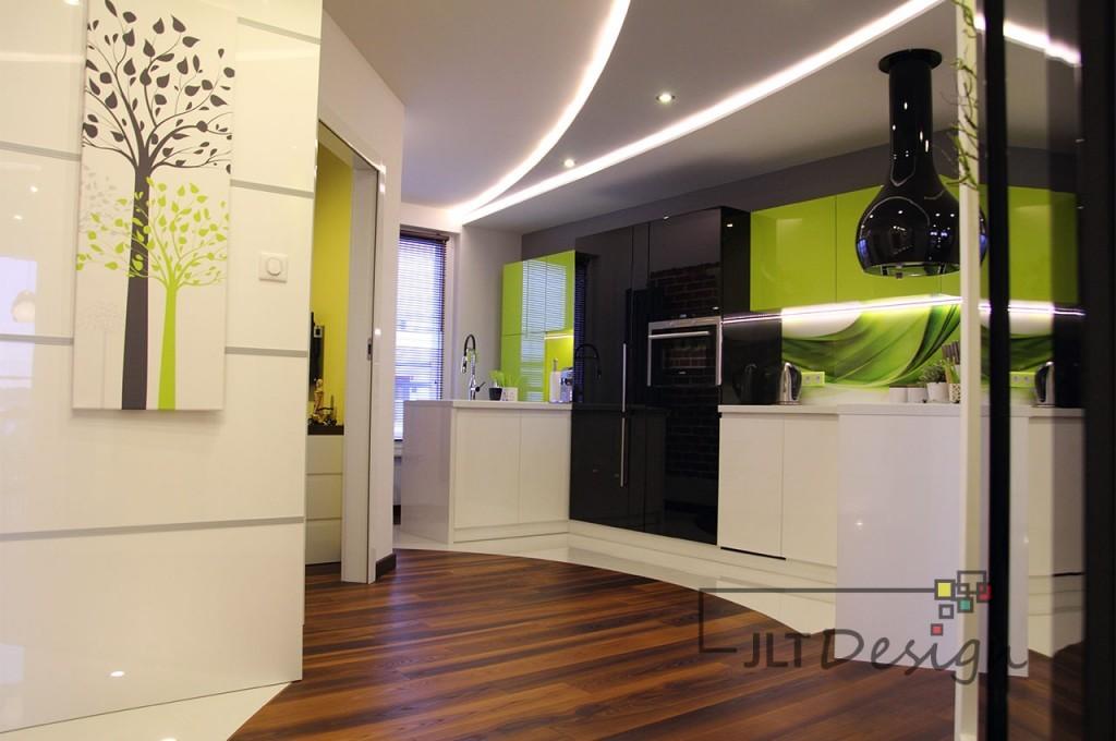 Nowoczesna aranżacja kuchni zaprojektowanej przez JLT Design