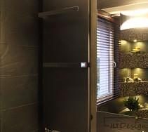 Designerski grzejnik w łazience