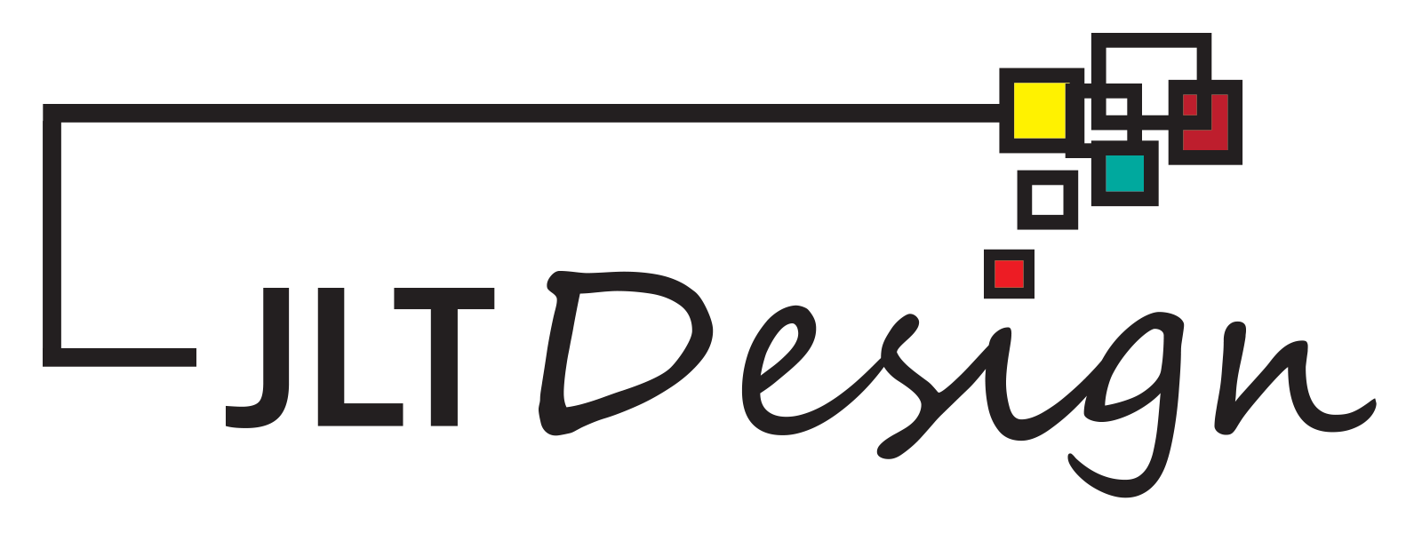 Logo JLT Design na przezroczystym tle (plik PNG, rozmiar 1600x600)