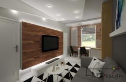 Mieszkanie z użyciem czerwonej cegły