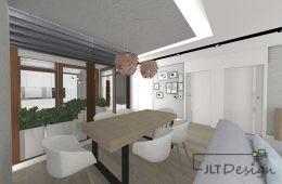 Mieszkanie z loggią w salonie