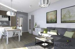 Mieszkanie w stylu drewna i zieleni