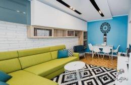 Kolorowe studenckie mieszkanie