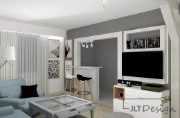 Bardzo kolorowe mieszkanie