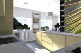 Nowoczesne mieszkanie z niebanalną, oliwkową kuchnią