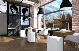 Salon fryzjerski w loftowym stylu