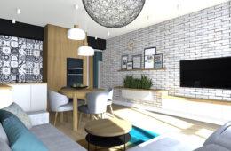 Rodzinne, funkcjonalne mieszkanie z ciepłym klimatem