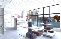 Funkcjonalny sklep w stonowanej kolorystyce