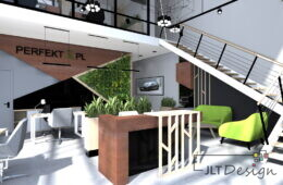Ekskluzywne biura nowoczesnej lakierni