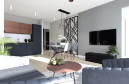 Luksusowy apartament z miedzianymi dodatkami